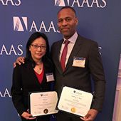 Guillermo Ameer and Jian Cao at AAAS meeting